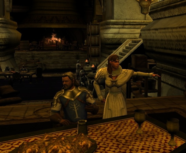 Father, listen to me, I don't want to marry that old man... and look at Rhovan, he is getting drunk.